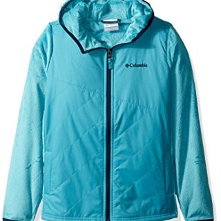 Columbia Little Girls' Pearl Plush II Hybrid Hoodie, Pacific Rim, X-Small