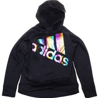 adidas Addidas Girls' Black Long Sleeve Hoodie (Size 14/16)