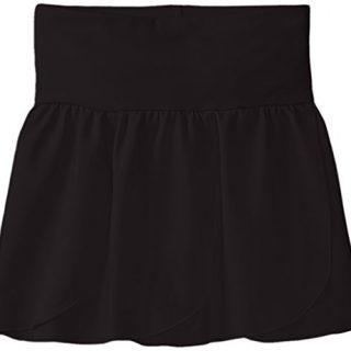 Capezio Little Girls' Petal Skirt,Black,Toddler