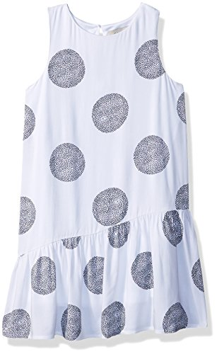 Calvin Klein Big Girls' Knotted Back Dress, White, Medium (8/10)