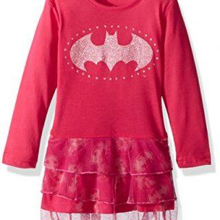 DC Comics Toddler Girls' Batgirl Sparkle Tutu Pajama Nightgown, Pink, 5T