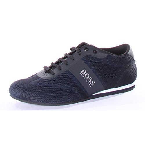 Hugo Boss BOSS Green by Men's Lighter Low Mesh Sneaker, Dark Blue, 44 M EU (11 US)