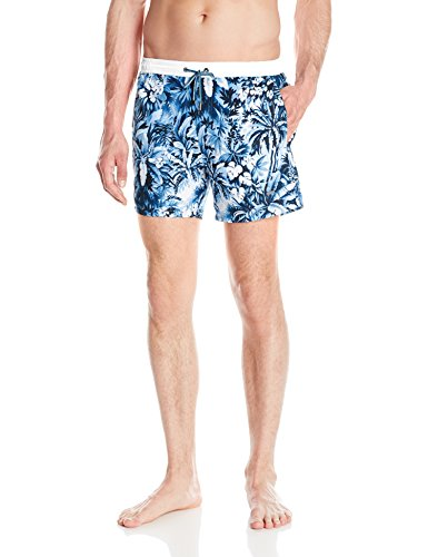 Hugo Boss BOSS Men's Mandarinfish Swim Trunk, Open Blue, Small
