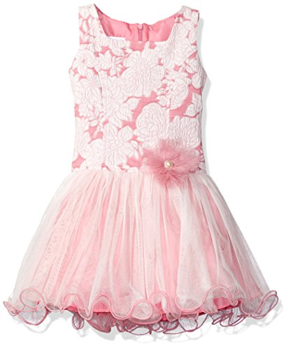 Bonnie Jean Little Girls' Sleeveless Princess Seam Party Dress, Pink, 6