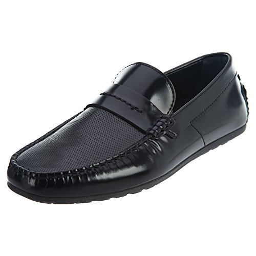 Hugo Boss Boss Men's Travelling Dandy Leather Moccasin by Hugo Black 10 D US