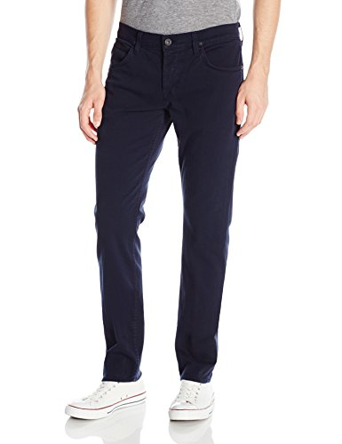 Hudson Jeans Men's Blake Slim Straight Leg Twill Pant, Covert Blue, 36