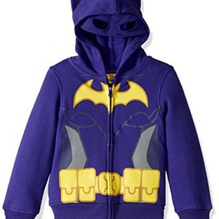 DC Comics Big Girls' Batgirl Costume Hoodie, Purple, 10/12