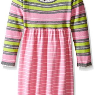 Bonnie Jean Little Girls' Striped Sweater Dress, Pink, 5