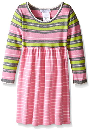 Bonnie Jean Little Girls' Striped Sweater Dress, Pink, 5