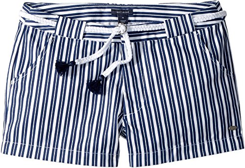 Tommy Hilfiger Kids Girl's Stripe Shorts With Novelty Belt (Little Kids/Big Kids) Flag Blue 8