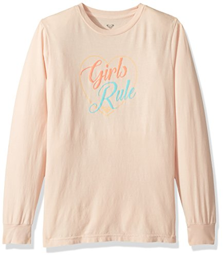Roxy Big Girls' Rainbow Long Sleeve T-Shirt, Peach Whip, 14/XL
