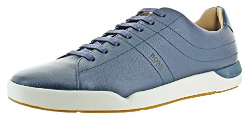 Hugo Boss Stillnes Men's Leather Sneakers Shoes Blue Size 12