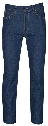 Gucci Men's Dark Blue Cotton Denim Slim Jeans Pants, Blue, 36