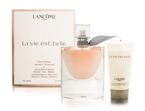LA VIE EST BELLE by Lancome Gift Set for WOMEN: EAU DE PARFUM SPRAY 1.7 OZ & BODY LOTION 1.7 OZ (TRAVEL OFFER)...