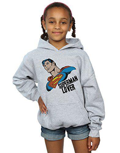 DC Comics Girls Superman Lover Hoodie, 12-13 Years
