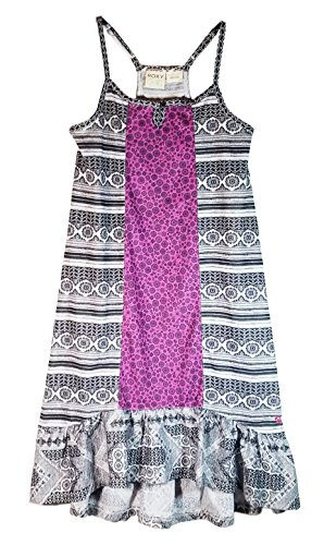 Roxy Girl Water Weave Sun Dress (Medium 10/12, Wtr Weave/Blk)