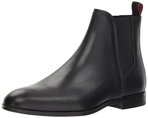 Hugo Boss Hugo by Men's Boheme Leather Chelsea Boot, Black, 43 M EU (10 US)