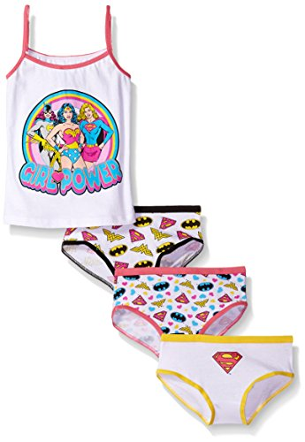 DC Comics Little Girls' Girl Power 3 Pk Underwear and Tank Set, Assorted, 6
