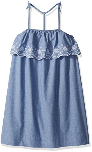 Tommy Hilfiger Big Girls' Sleeveless Dress, Parisian Blue