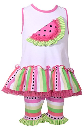 Bonnie Jean Toddler Girls' Sleeveless Knit Appliqued Dress and Legging Set, Fuchsia (6)