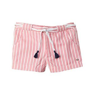 Tommy Hilfiger Girls Striped Short, 12, Pink