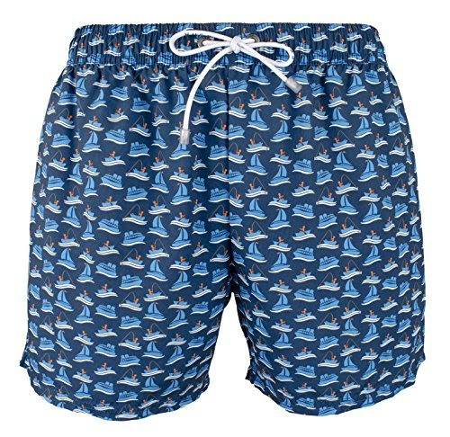 Hugo Boss BOSS Men's Piranha Swim Trunk, Navy, Medium