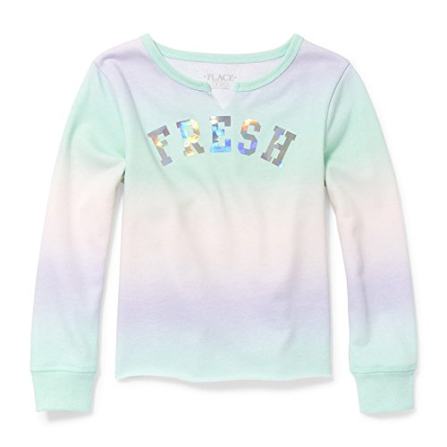 The Children's Place Big Girls' Long Sleeve T-Shirt 2, Mermaids Tale, M (7/8)