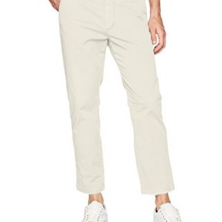Hudson Jeans Men's Clint Cropped Chino Pant, Off White, 34