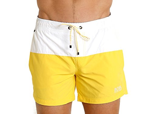 Hugo Boss BOSS Men's Flounder Swim Trunk Open Yellow Medium