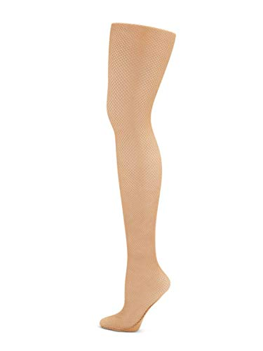 Capezio Girls Professional Fishnet Seamless Tight - (Shortbread, L/XL)