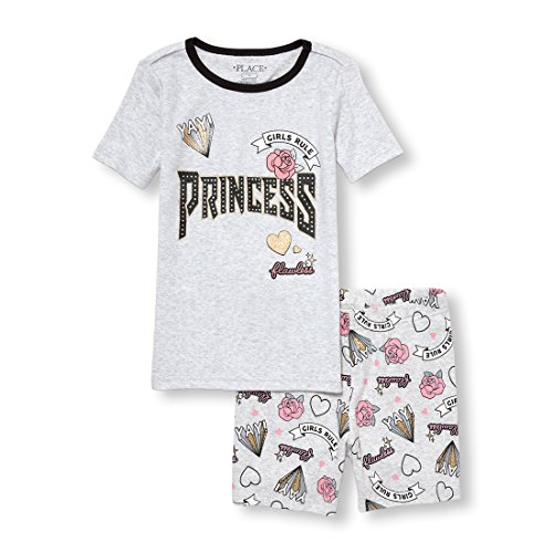 The Children's Place Big Girls' Top and Shorts Pajama Set