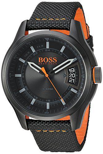 Hugo BOSS Men's 'Hong Kong Sport' Quartz Resin and Nylon Casual Watch, Color Black