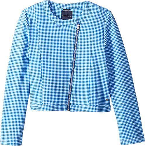 Tommy Hilfiger Kids Girl's Cropped Moto Jacket (Big Kids) Regatta Blue X-Large