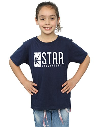 DC Comics Girls The Flash Star Labs T-Shirt 12-13 Years Navy Blue
