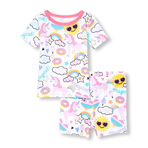 The Children's Place Big Baby Girls Top and Bottom Pajama Set