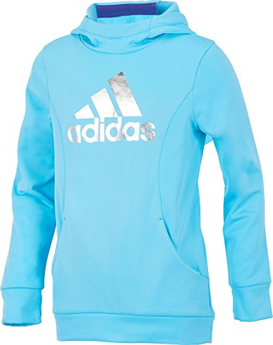 adidas Kids Girl's Performance Sweatshirt (Big Kids) Bluefish Medium
