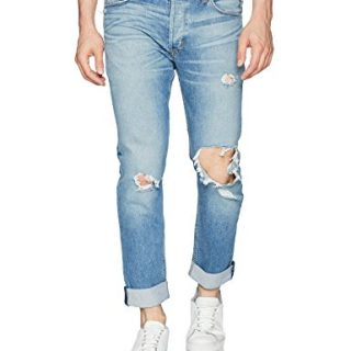 Hudson Jeans Men's Sartor Slouchy Skinny Jeans, Banned, 33