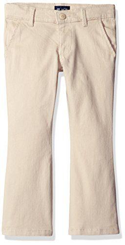The Children's Place Little Girls' Uniform Pants, Sesame, 6