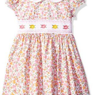 Bonnie Jean Little Girls' Collared Cotton Dress, Pink/Yellow, 6