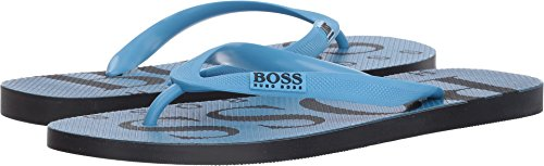 Hugo Boss BOSS Green by Men's Wave Thong Sandal Flip-Flop, Pastel Blue, 12/13 N US
