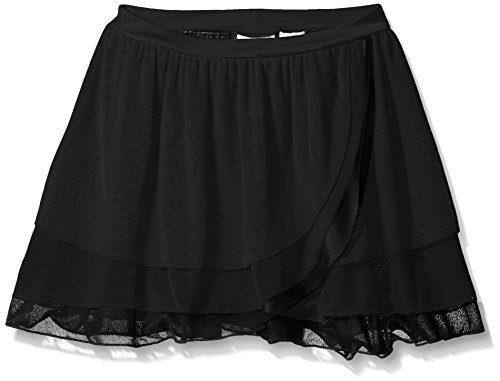 Capezio Girls' Big Girls' Kyla Pull on Skirt, Black, X-Large