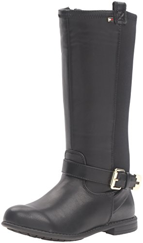 Tommy Hilfiger Kids Andrea Stretch Neoprene Back Boot (Toddler/Little Kid/Big Kid), Black, 10 M US Toddler