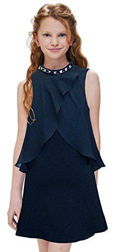 Hannah Banana, Big Girls Tween Embellished Party Dress, 7-16 (12, Black/Studs)