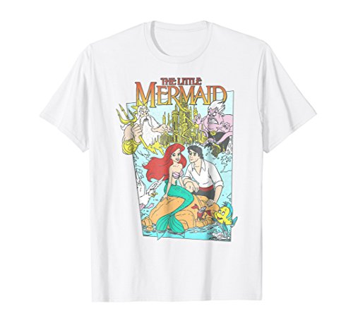 Disney The Little Mermaid Vintage Cover Graphic T-Shirt
