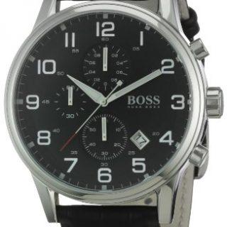 Hugo Boss Black Round Black Dial Steel Case Men's Classic