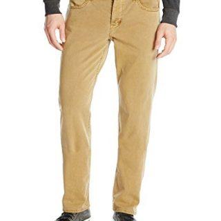 Hudson Jeans Men's Byron 5 Pocket Straight Leg Twill Pant, Raw Umber, 36