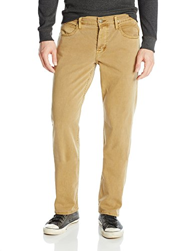 Hudson Jeans Men's Byron 5 Pocket Straight Leg Twill Pant, Raw Umber, 36