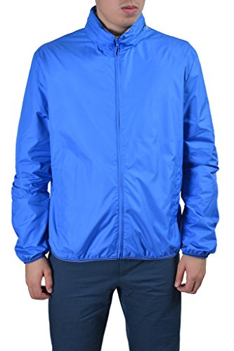 Gucci Men's Blue Full Zip Hooded Windbreaker Jacket US XL IT 54;