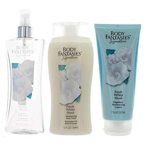 Body Fantasies Fresh White Musk 3 Piece Gift Set