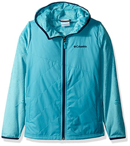 Columbia Big Girls' Pearl Plush II Hybrid Hoodie, Pacific Rim, X-Large